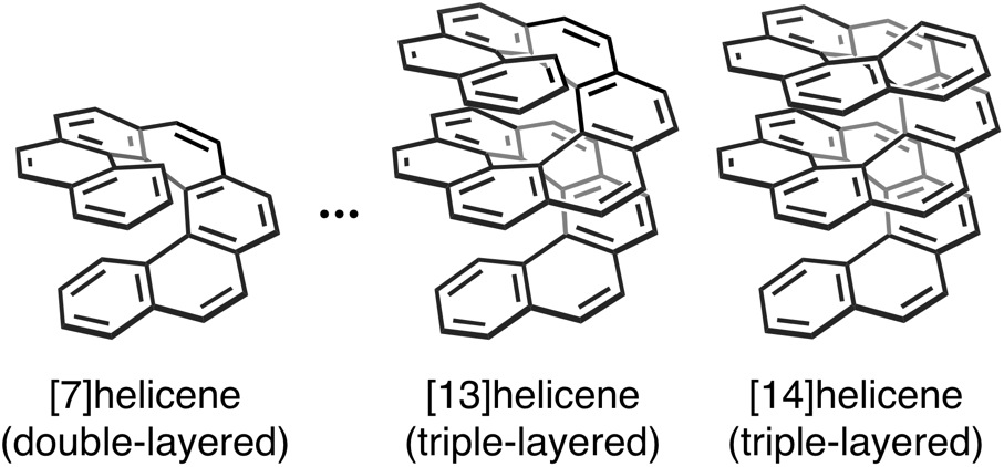 Multi-layerd helicenes