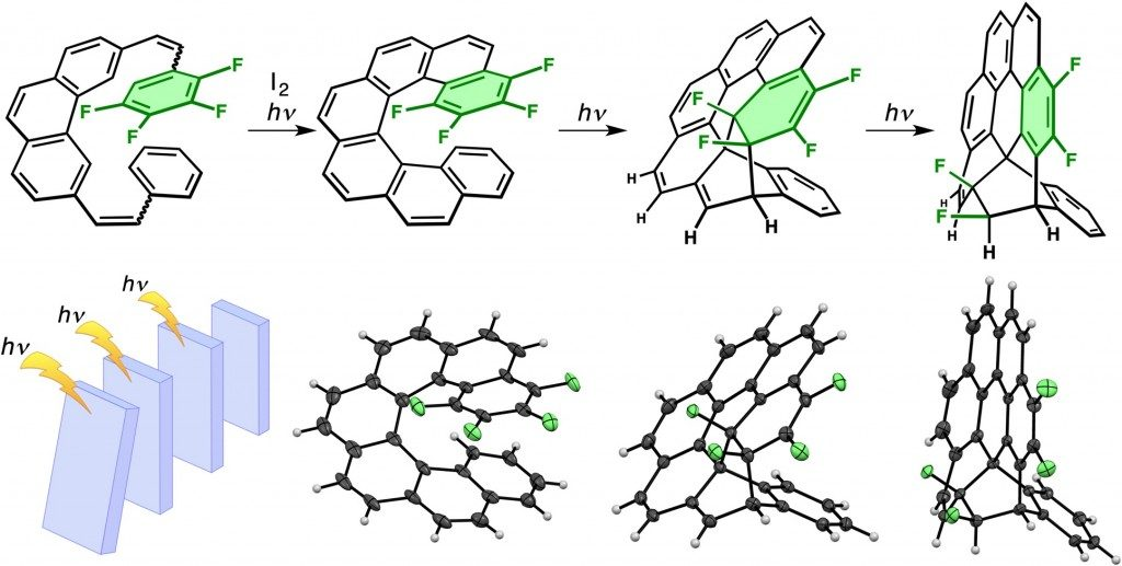 Triple photochemical domino reaction